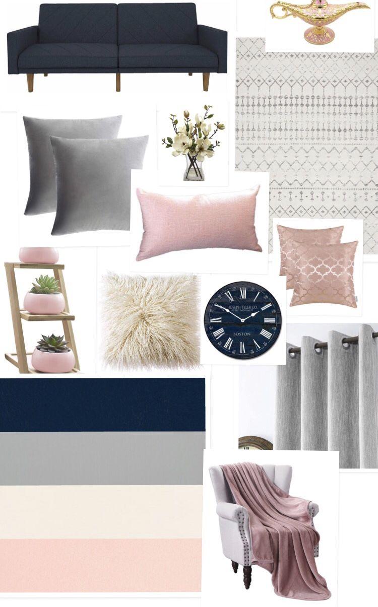 3 Indigo Denim Navy Slate Blue Gray Blush Brown Dorm Room Colors Dorm Room Color Schemes Bedroom Design