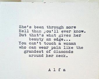 Typed poem on 5