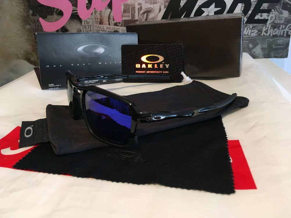 8ca488ec58 Black matte Oakley Triggerman OO9266-02 59mm sunglasses blue iridium  polarized  fashion  clothing  shoes  accessories  mensaccessories ...