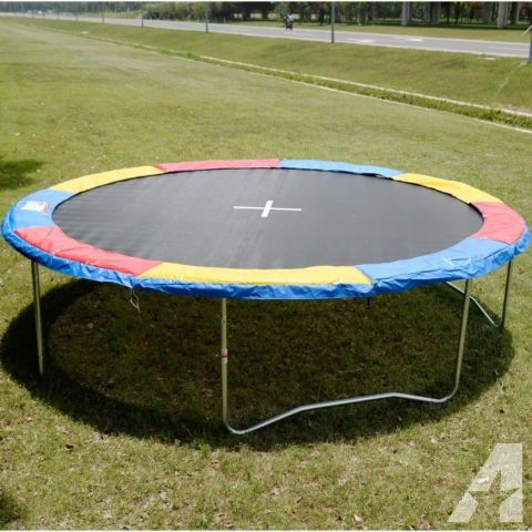 12 Ft Trampoline Safety Pad Epe Foam Spring Cover Frame Trampoline Trampoline Safety Backyard Trampoline