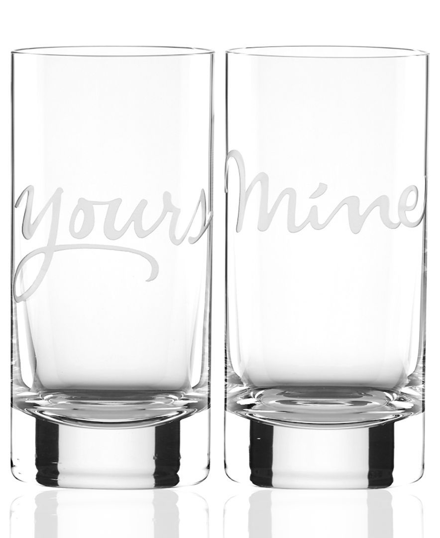 Macy Wedding Gifts: Kate Spade New York Mine And Yours Highball Glasses Set