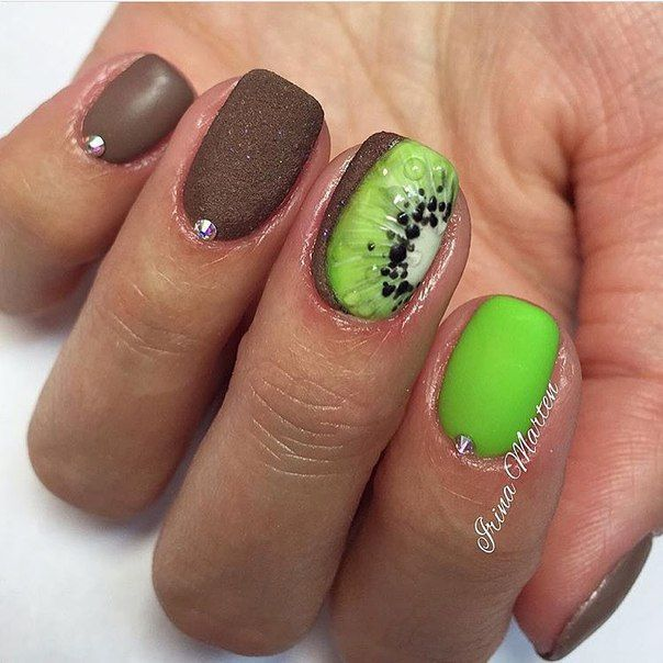 Nail Art #1796 - Best Nail Art Designs Gallery | Lime nails, Brown ...