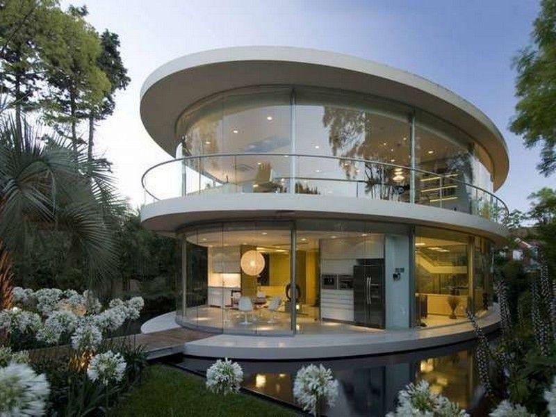 Sensational Modern House Designs Furniture And Decoration : Elegant Modern  House Design Green Garden Round Style Architecture | Dream Home | Pinterest  ...