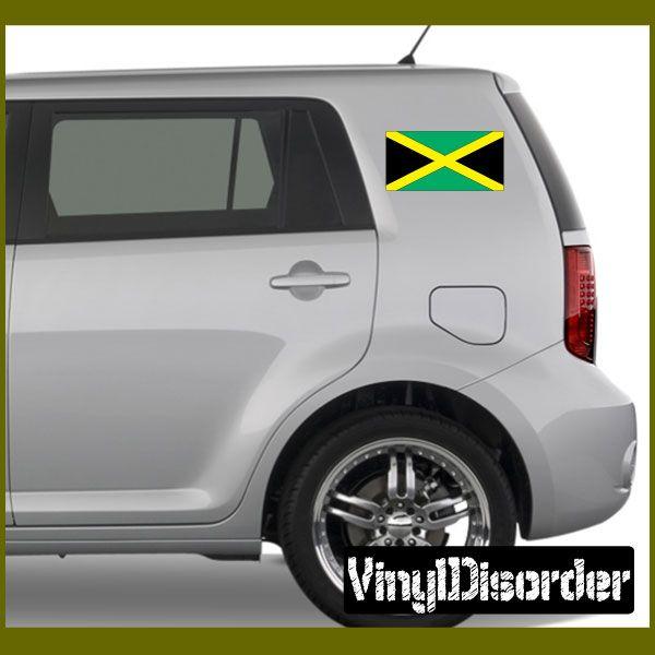 Jamaica flag sticker car or wall vinyl decal