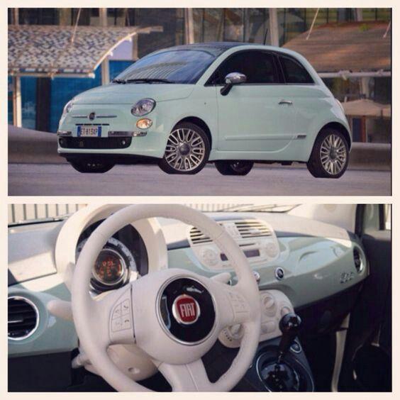 Fiat 500 Light Green Zelim Ovu Bebu Bebuu With Images Fiat