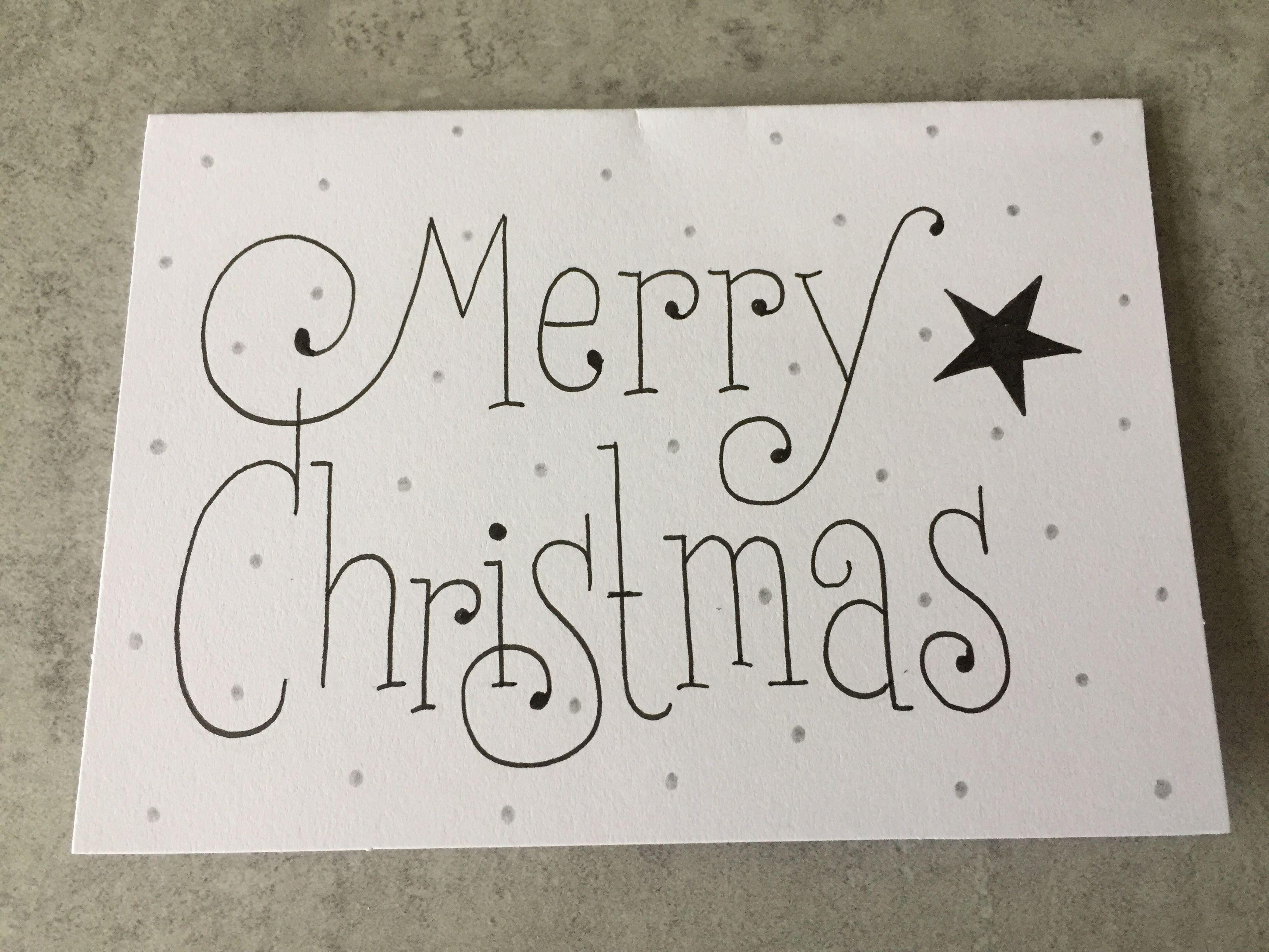 Kaligrafie Met Afbeeldingen Kerstbrieven Kerst Kaarten