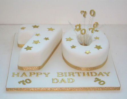 Pleasing 70 Birthday Cake Yummy Scrummy Cake Design Celebration Cakes Funny Birthday Cards Online Fluifree Goldxyz