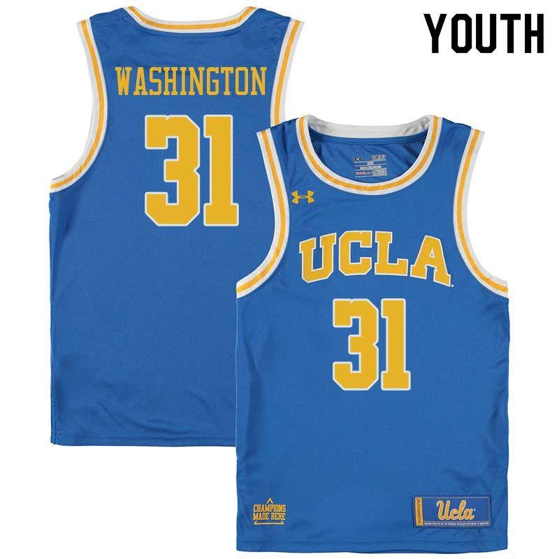 f37cad467ce6 Youth  31 Richard Washington UCLA Bruins College Basketball Jerseys Sale- Blue