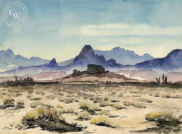 The Desert, California art by Lee Blair. HD giclee art prints for sale at CaliforniaWatercolor.com - original California paintings, & premium giclee prints for sale