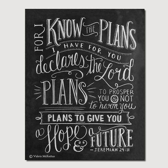 Jeremiah 29 11 Wall Art scripture art- graduation gift - jeremiah 29:11 print - bible