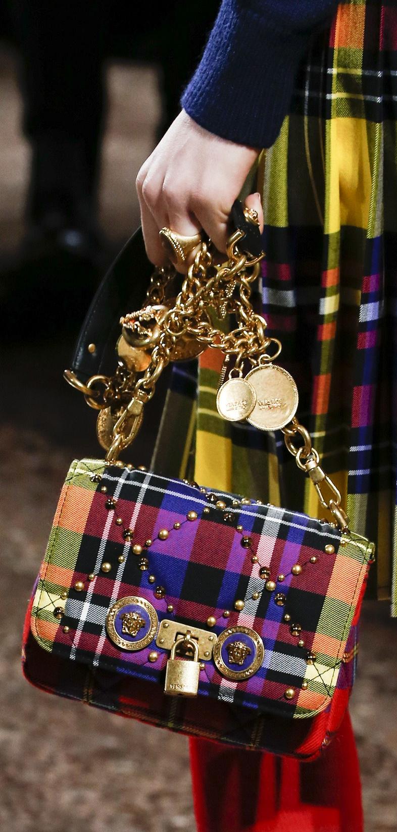 Fall 2018 RTW Versace Versace handbags, Purses and