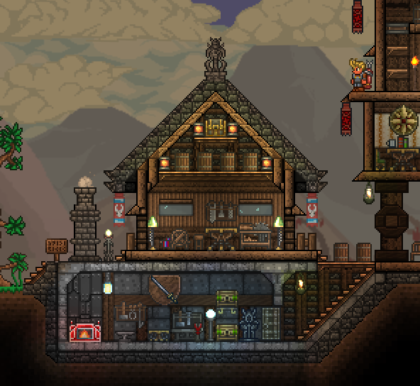 Terrarium Terraria House Design: Pin By Joseph Thompson On Games