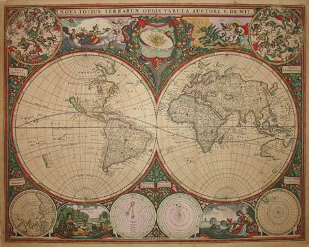 Antique Map of the World MAPS \ LEGENDS Pinterest Antique maps - new antique world map images