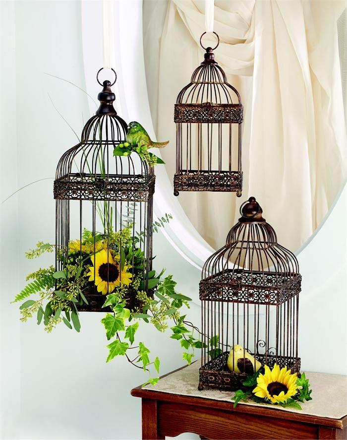 wedding table centerpieces bird cage set bird cage wedding centerpiece decorations or hanging. Black Bedroom Furniture Sets. Home Design Ideas