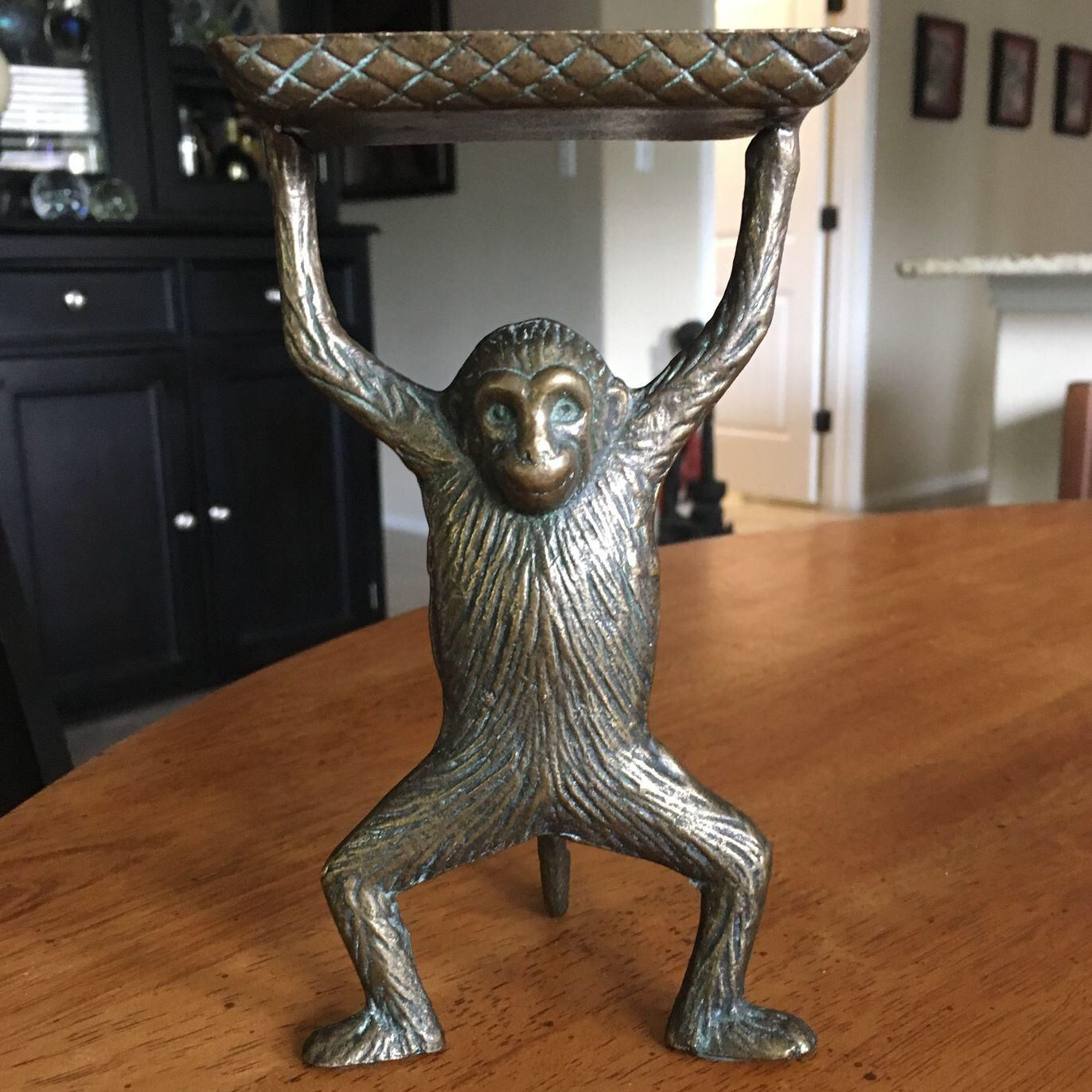 Vintage Solid Brass Monkey Business Card Holder | Monkey business ...