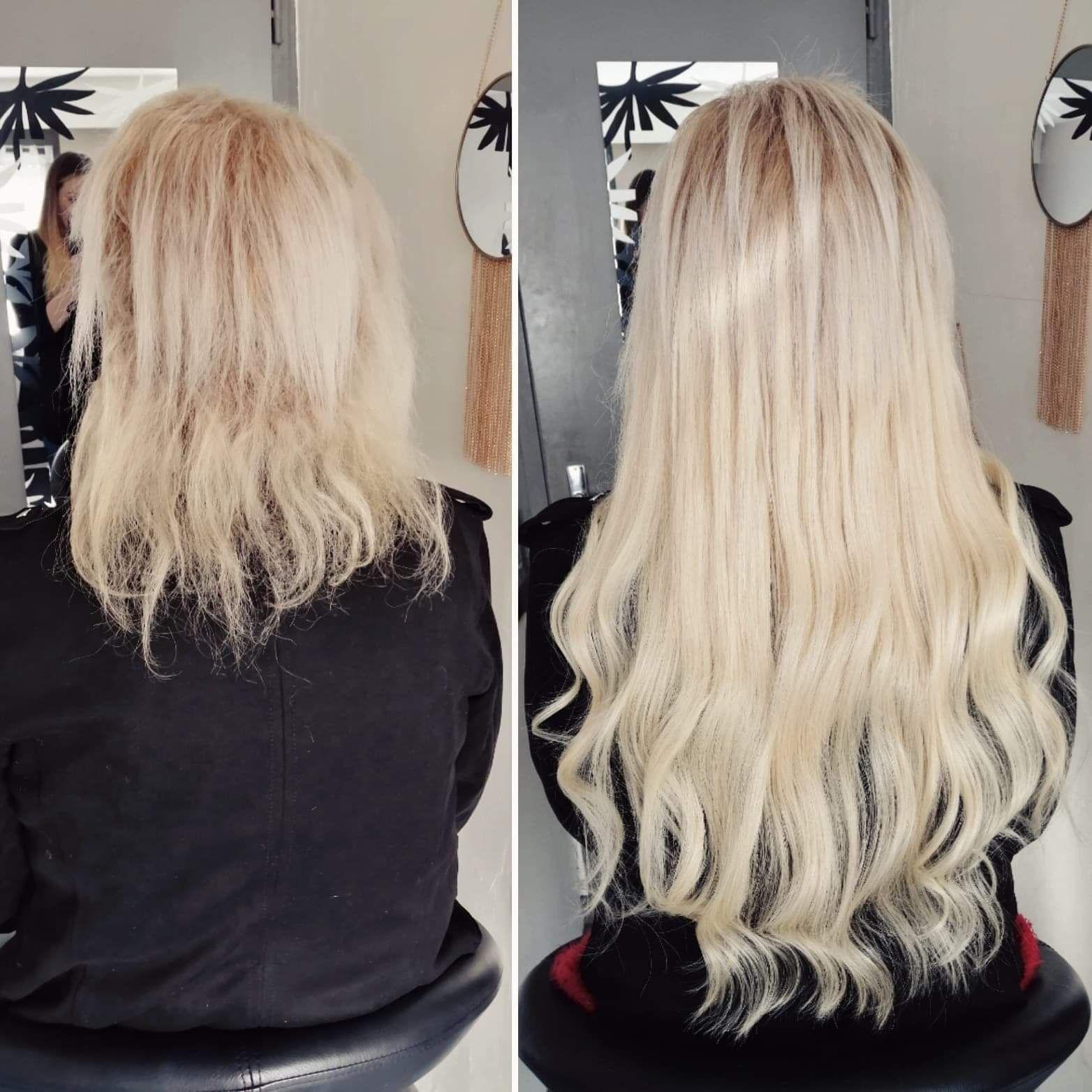 Avant Apres Extensions A Froid Extensions De Cheveux Cheveux Avant Apres Extension Cheveux Avant Apres