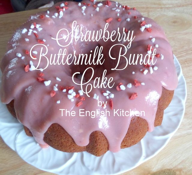 Strawberry Buttermilk Bundt Cake The English Kitchen The English