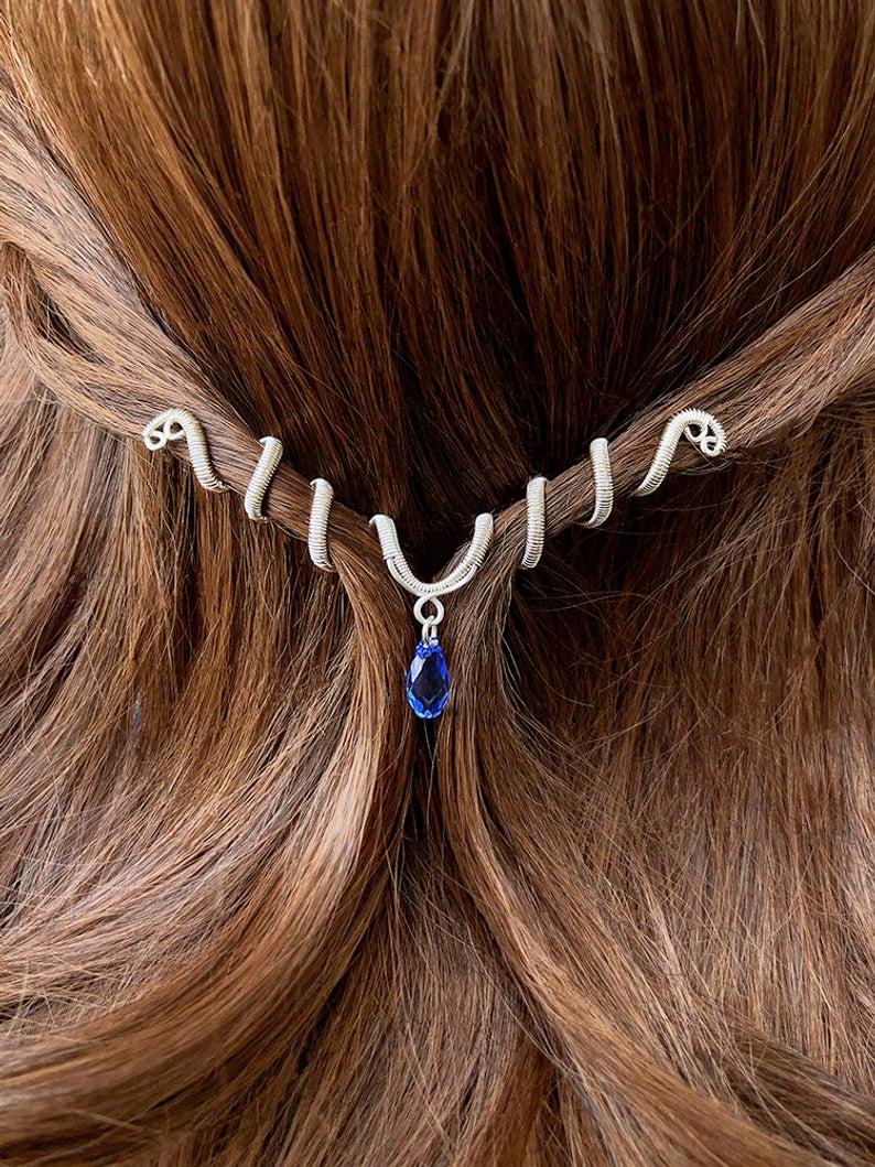 Bridal Hair Jewelry, Wedding Hair Accessory, Renaissance Wedding Jewelry, Bridal Hair Pin, Hair Accessories for Bride, Bridal Hair Piece #weddinghairjewelry