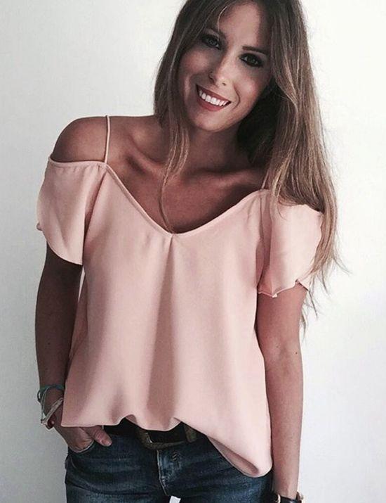 c4fe300a4 Blusa hombros descubiertos de Vila Clothes Más