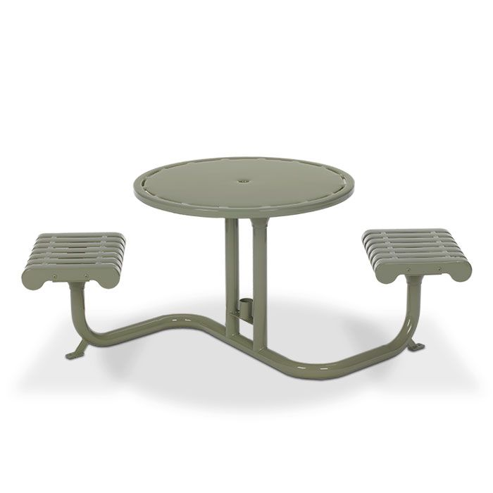 Rendezvous Bistro Table With 2 Flat Seats   Picnic Tables   Upbeat.com