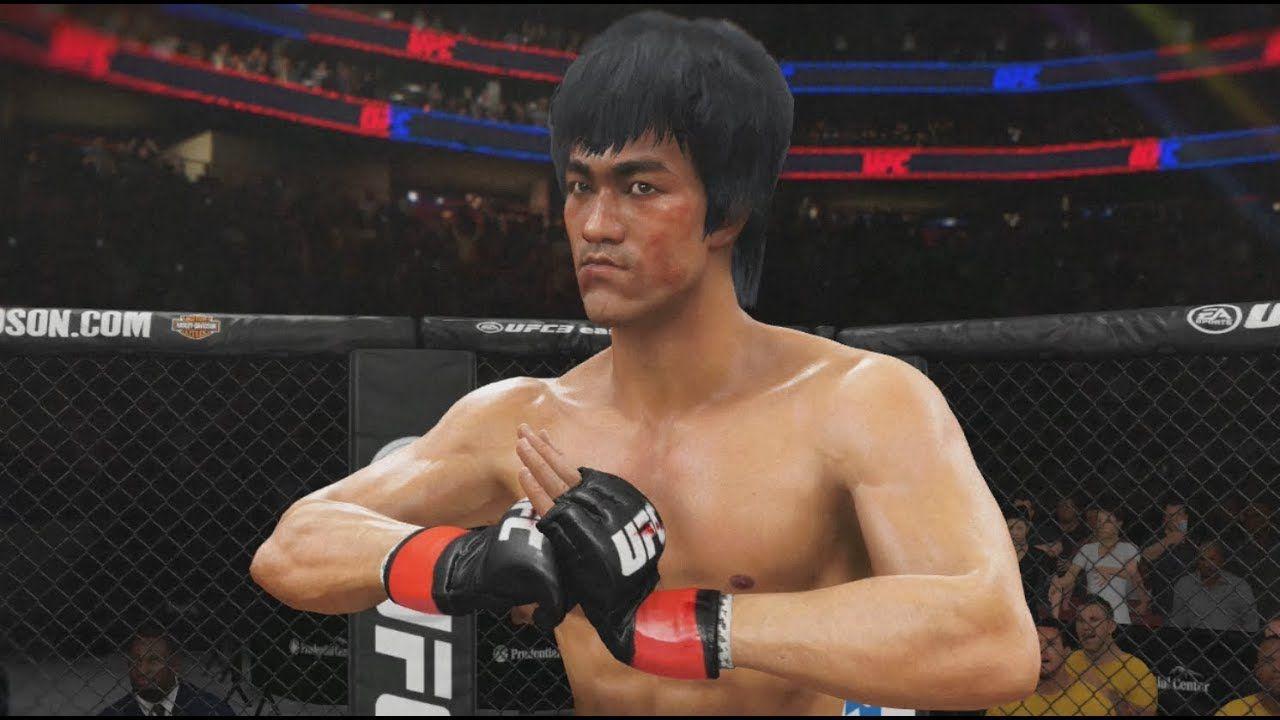 ENTER THE DRAGON!!! UFC 3 GAMEPLAY BRUCE LEE VS CM PUNK