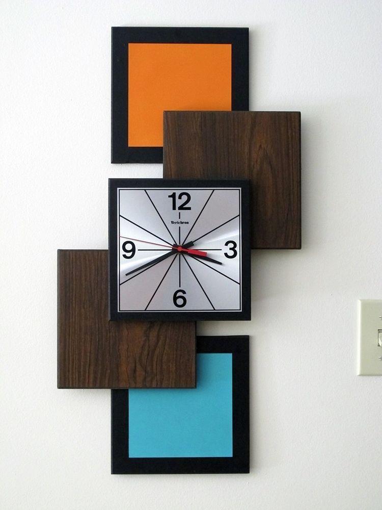 Vintage Verichron Wall Clock Mcm Mid Century Modern Atomic Starburst Vintage Wall Clock Wall Clock Design Mid Century Modern Clocks