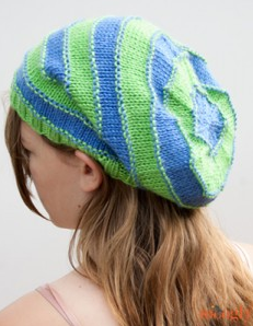 Beanies are comfortable. Slouchy beanies are cool looking. Stripey Knit  Slouchy Beanies are perfect. This free knit hat pattern has sizes for all. c71f7354551
