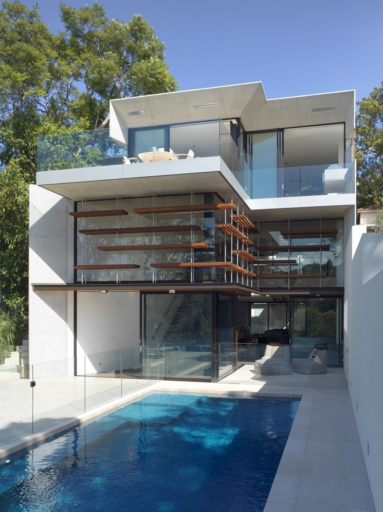 Tiny Swimming Pool Ideas That S 21 Very Stunning Swimming Pool Design Just How Do You T Modern House Plans Sustainable House Design House Built Into Hillside