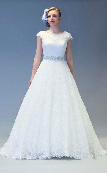 White Rose style R859, Beautiful vintage look full lace wedding ...
