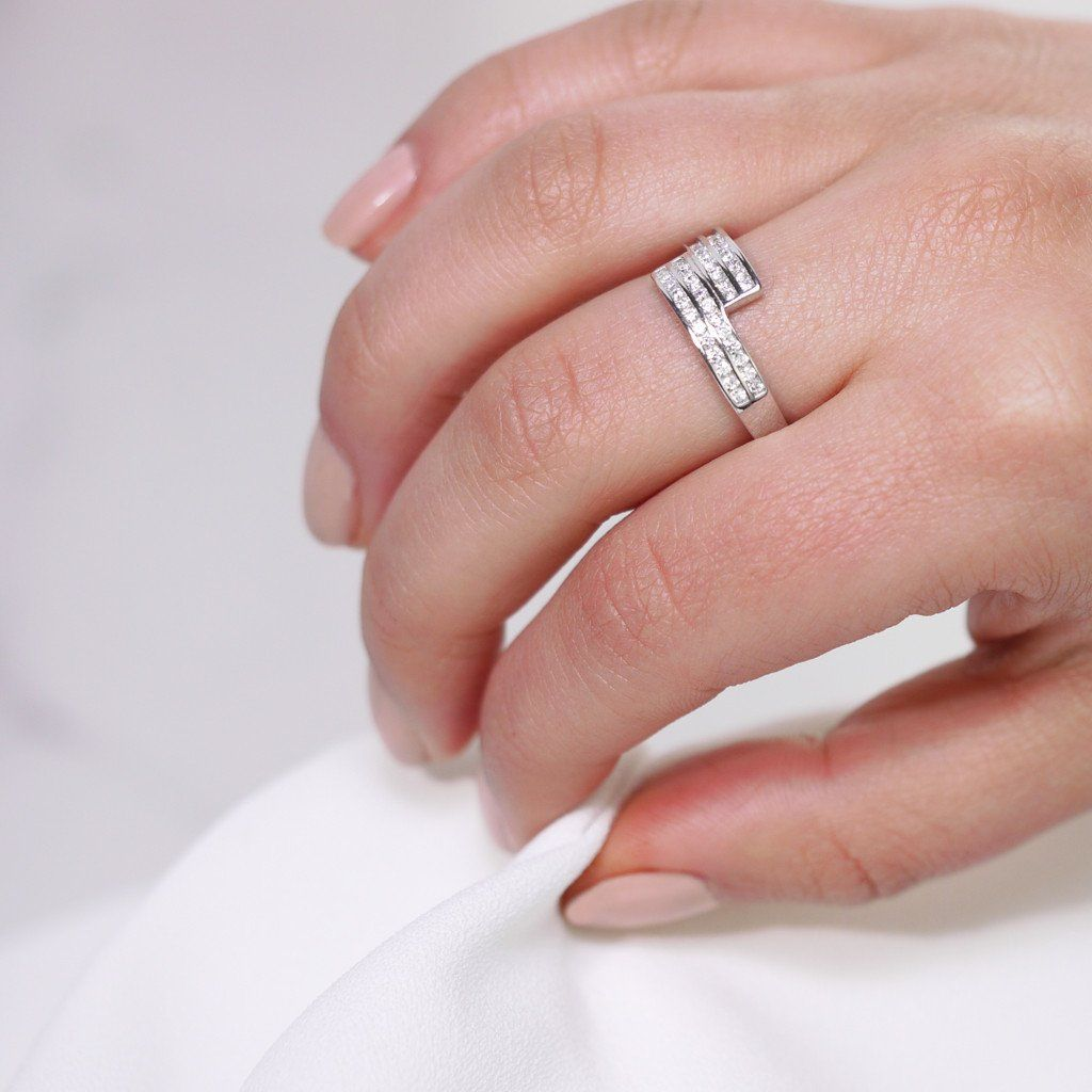 ARC RING WITH CLEAR ZIRCONIA - Trove Candles | TROVE RINGS ...
