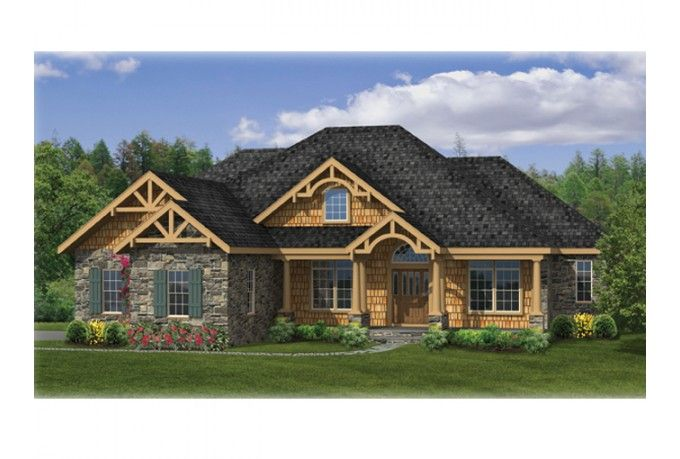 Eplans Craftsman House Plan –Comfortable Craftsman Ranch With