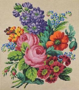 Antique berlin woolwork hand painted chart 19th century - Farbkarten kostenlos ...