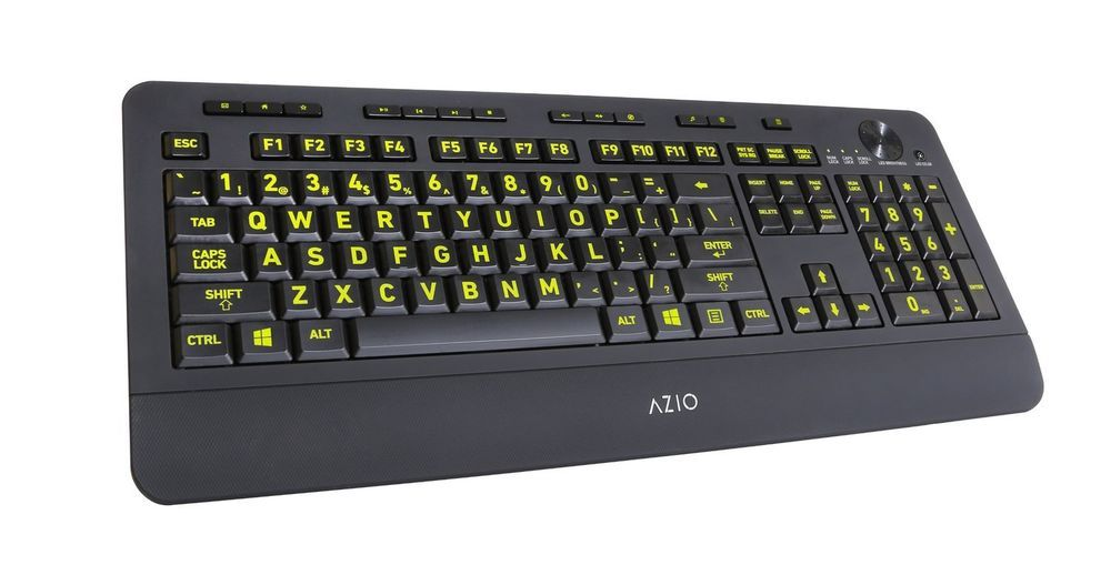 Backlit USB Keyboard Large Print keys 5 Colors PC Gaming