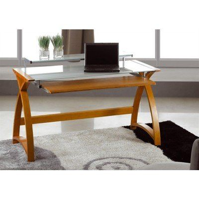 The Jual Curve Computer Desk Is A Modern Design Finished In A Sumptuous  Curved Real Wood. Small Computer DesksHome Office ...