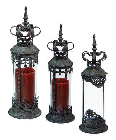 Look what I found on #zulily! Crown Lantern Set #zulilyfinds