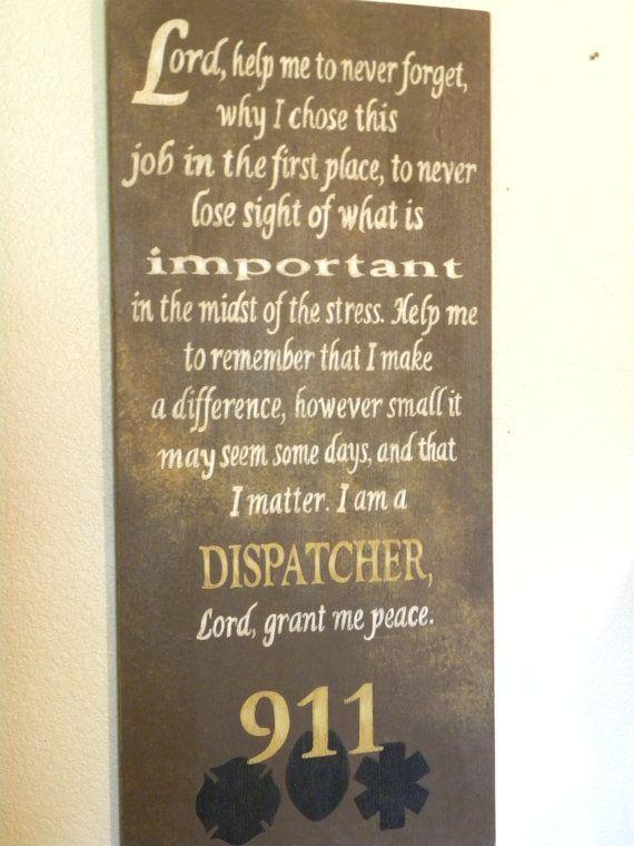 Dispatcheru0027s Prayer Sign by GranArt on Etsy, $8500 Police Signs - police dispatcher resume