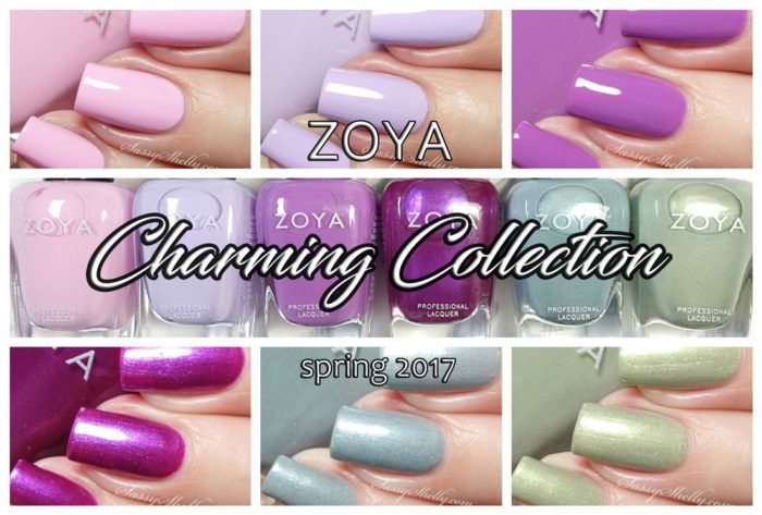 Zoya Nail Polish - Charming Collection for Spring 2017 - live swatch and review | Sassy Shelly