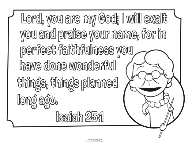 Kids Coloring Page From Whats In The Bible Featuring Isaiah