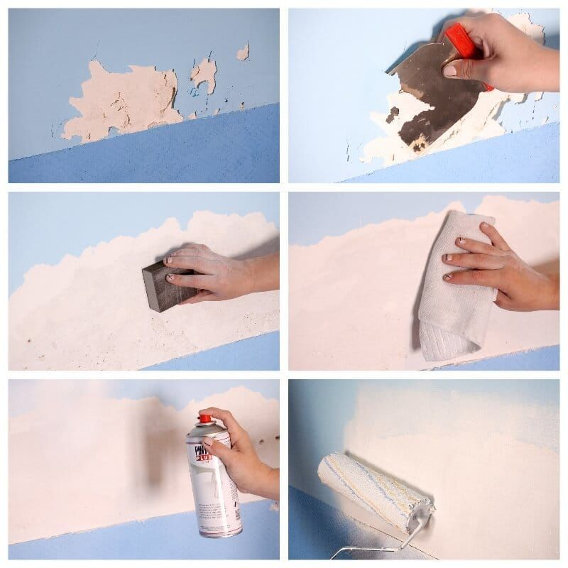 Cómo Quitar Las Manchas De Humedad Y Reparar La Pintura Que Ha Saltado Limpiando Paredes Quitar Pintura Como Resanar Paredes