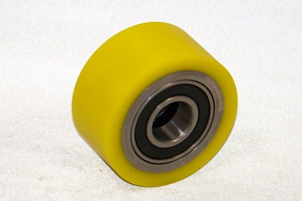 Yellow Polyurethane Idler Wheel www.sunray-inc.com