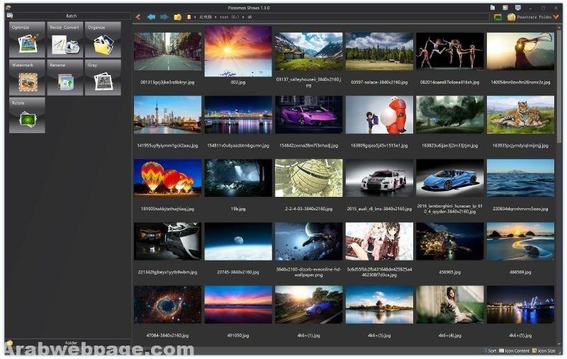 برنامج للكتابة على الصور بالعربي بخطوط جميلة Picosmos Tools الصفحة العربية