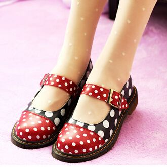 2015 New Arrival Grils Patchwork Dot Sweet Gothic Round Toe Lolita Shoes Women's Casual Retro Cow Muscle Mary Jane Shoes A88(China (Mainland))