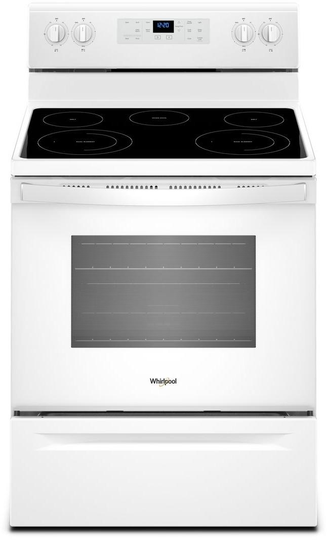 Whirlpool 30 Freestanding Electric Range White Wfe525s0hw Glass