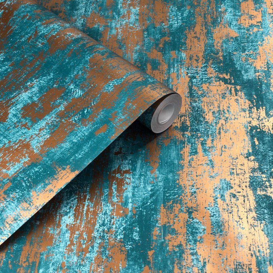 Graham & Brown Industrial Texture Blue Wallpaper in 2020