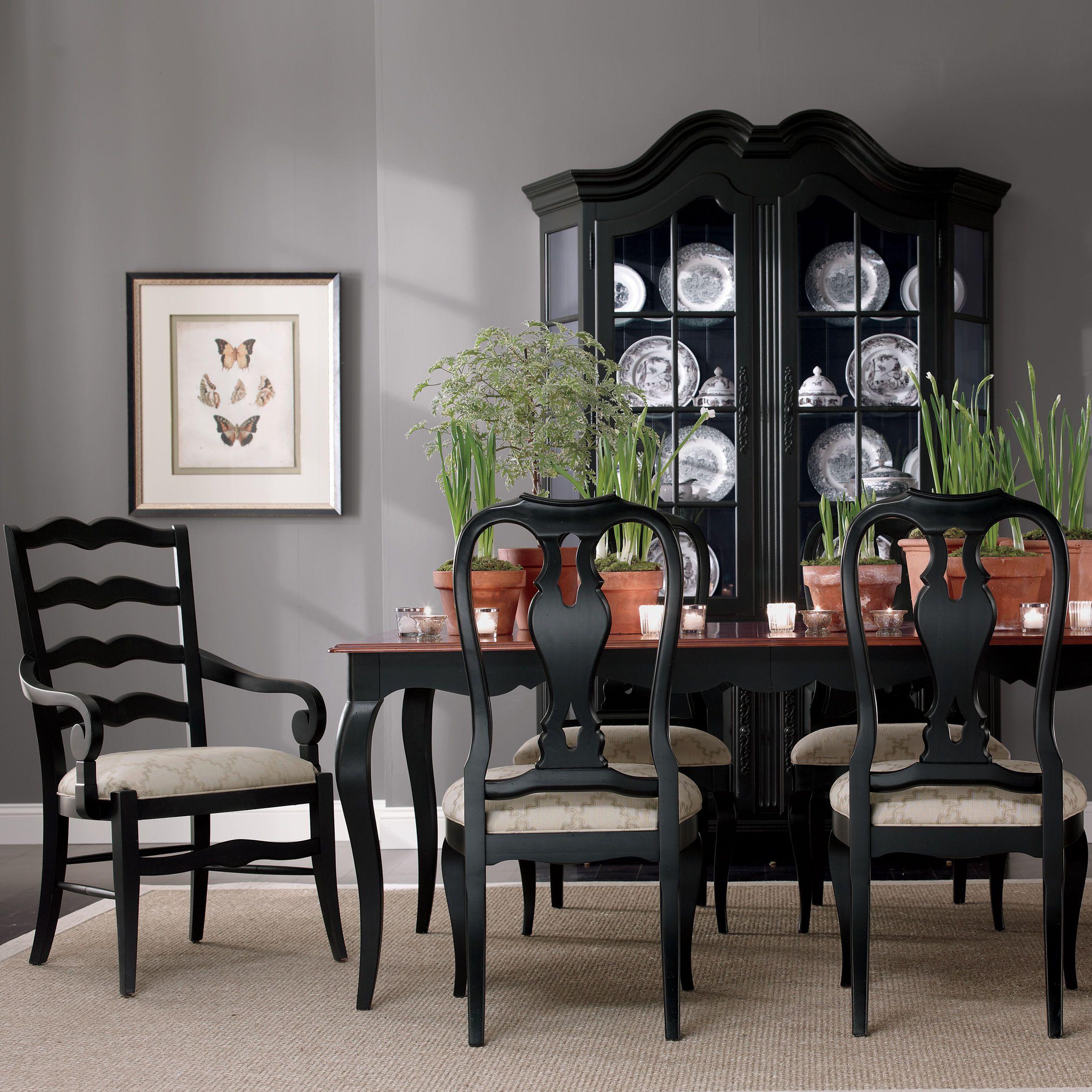 Celine China Cabinet Ethan Allen Us Black Dining Room