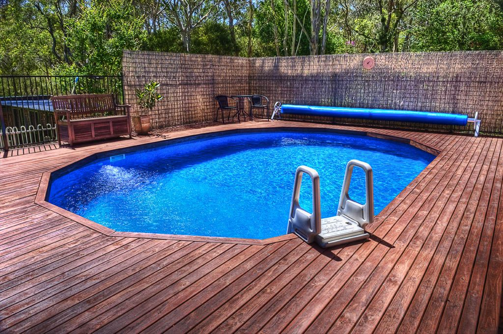 Above Ground Pool Decks For Sale >> Semi Inground Pools Range Affordable Pools Backyard