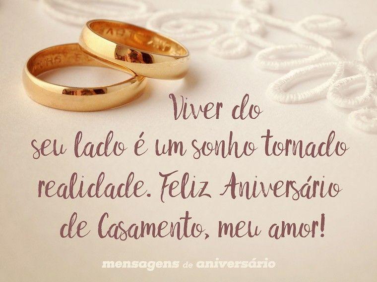 Feliz Aniversario De Casamento Meu Amor: Viver Do Seu Lado é Um Sonho Tornado Realidade. Feliz