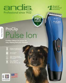Andis Pulse Ion Cordless Clipper Kit Medium Duty Remarkable Product Available Now This Is An Amazon Dog Clippers Dog Grooming Clippers Dog Grooming Tools