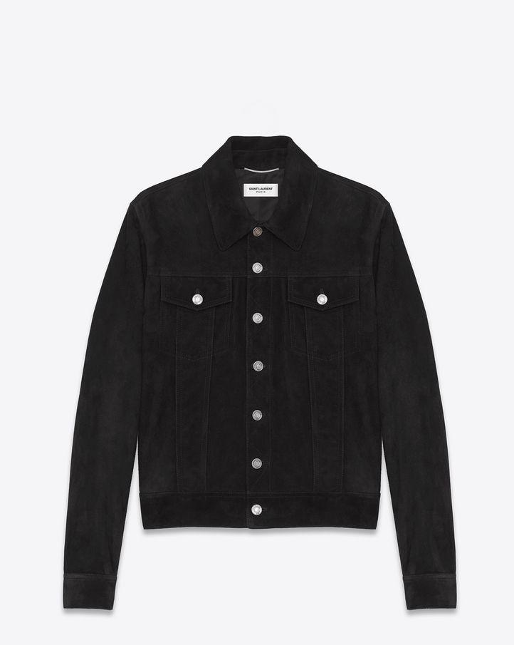 e3e1f93153e Suede denim jacket in 2019 | Dress | Jackets, Denim, Black suede