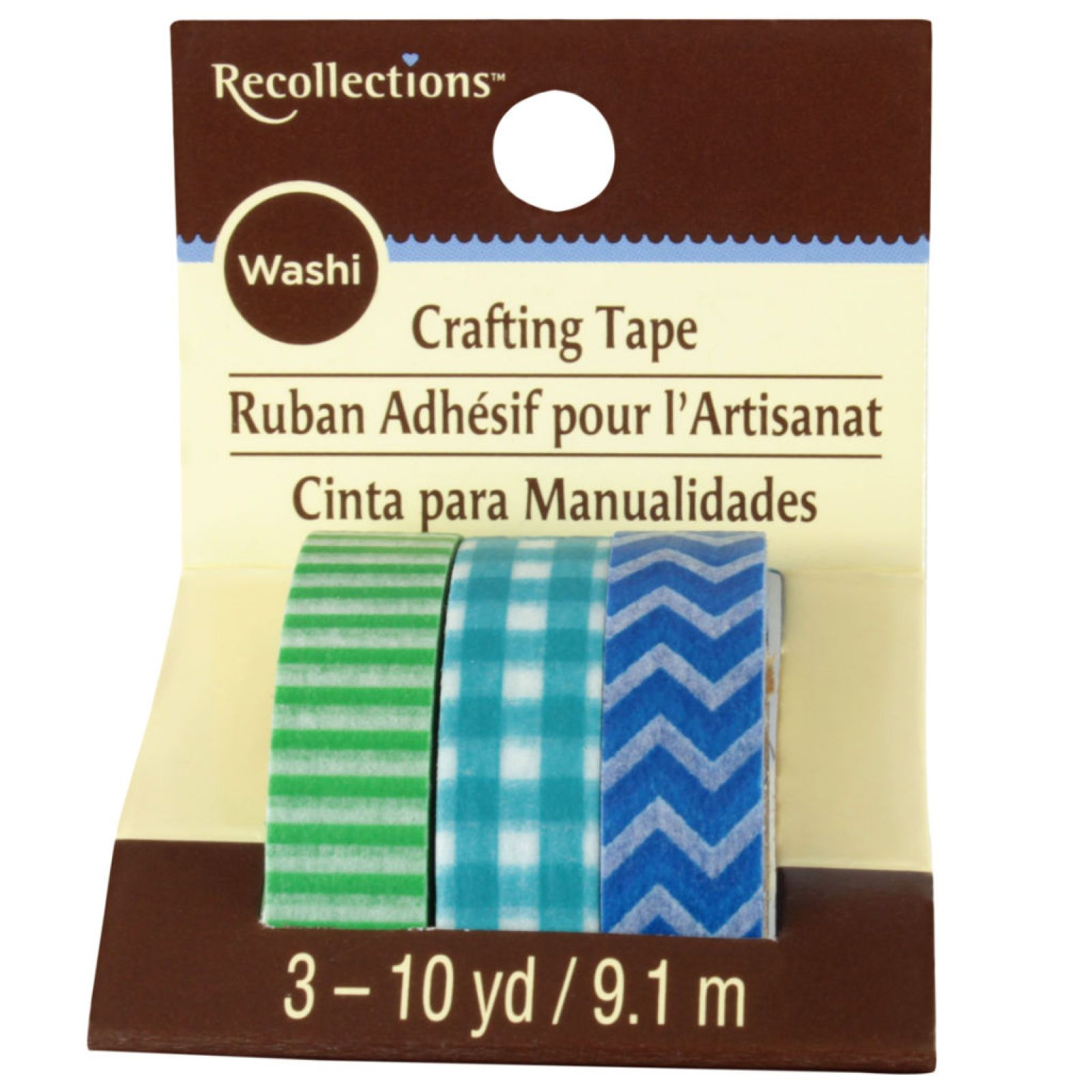 Recollections™ Washi Tape, Blue & Green Basics